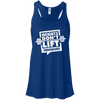 Weights Don't Lift Themselves Apparel CustomCat B8800 Bella + Canvas Flowy Racerback Tank True Royal X-Small