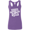 Weights Don't Lift Themselves Apparel CustomCat G645RL Gildan Ladies' Softstyle Racerback Tank Heather Purple Small