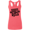 Weights Don't Lift Themselves Apparel CustomCat G645RL Gildan Ladies' Softstyle Racerback Tank Heather Red Small