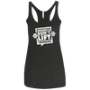Weights Don't Lift Themselves Apparel CustomCat NL6733 Next Level Ladies' Triblend Racerback Tank Vintage Black X-Small