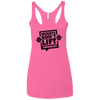 Weights Don't Lift Themselves Apparel CustomCat NL6733 Next Level Ladies' Triblend Racerback Tank Vintage Pink X-Small