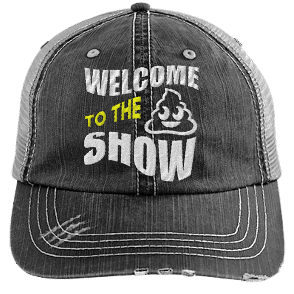 Welcome to the Shit Show Hats CustomCat Black/Grey One Size