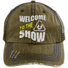 Welcome to the Shit Show Hats CustomCat Brown/Navy One Size