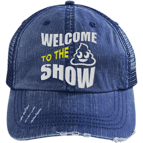 Welcome to the Shit Show Hats CustomCat Navy/Navy One Size