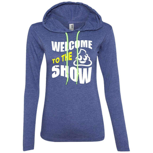 Welcome to the S_Show T-Shirts CustomCat Heather Blue/Neon Yellow S