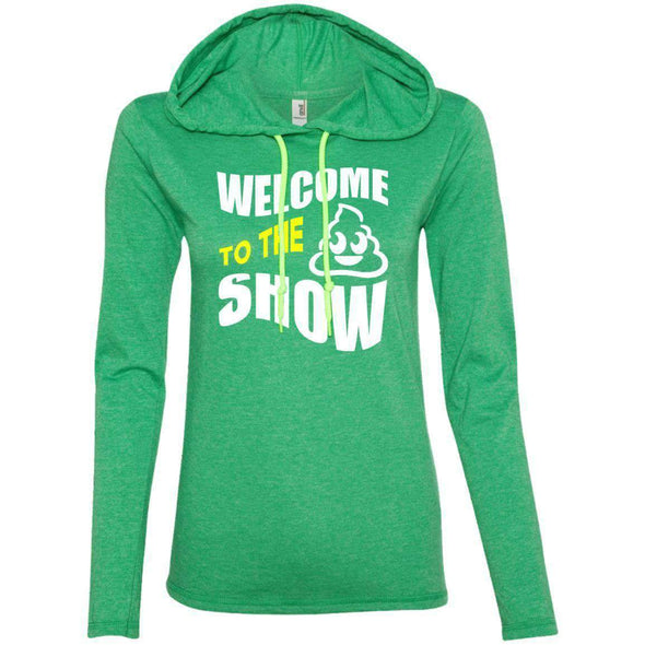 Welcome to the S_Show T-Shirts CustomCat Heather Green/Neon Yellow S