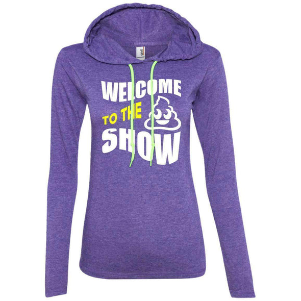 Welcome to the S_Show T-Shirts CustomCat Heather Purple/Neon Yellow S