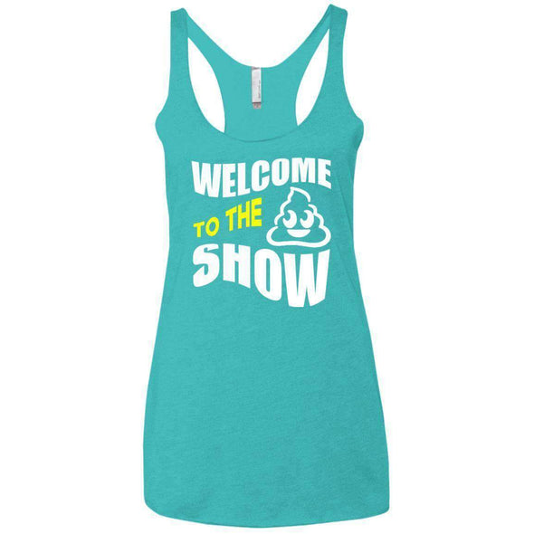 Welcome to the S_Show T-Shirts CustomCat Tahiti Blue X-Small