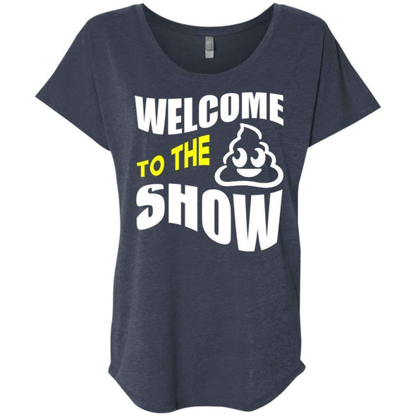 Welcome to the S_Show T-Shirts CustomCat Vintage Navy X-Small