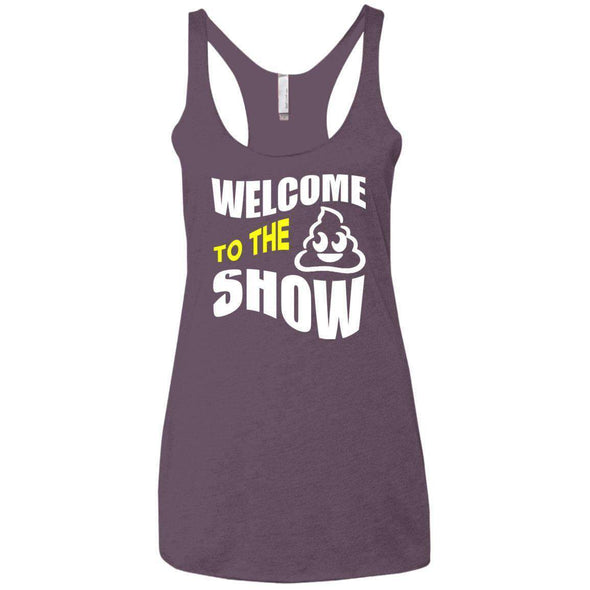 Welcome to the S_Show T-Shirts CustomCat Vintage Purple X-Small