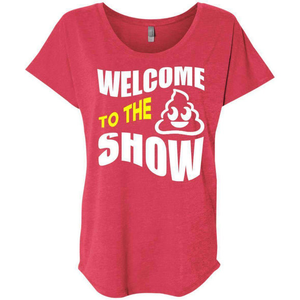 Welcome to the S_Show T-Shirts CustomCat Vintage Red X-Small