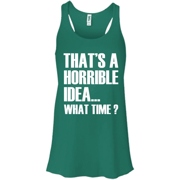 What Time? Apparel CustomCat Bella + Canvas Flowy Racerback Tank Kelly X-Small