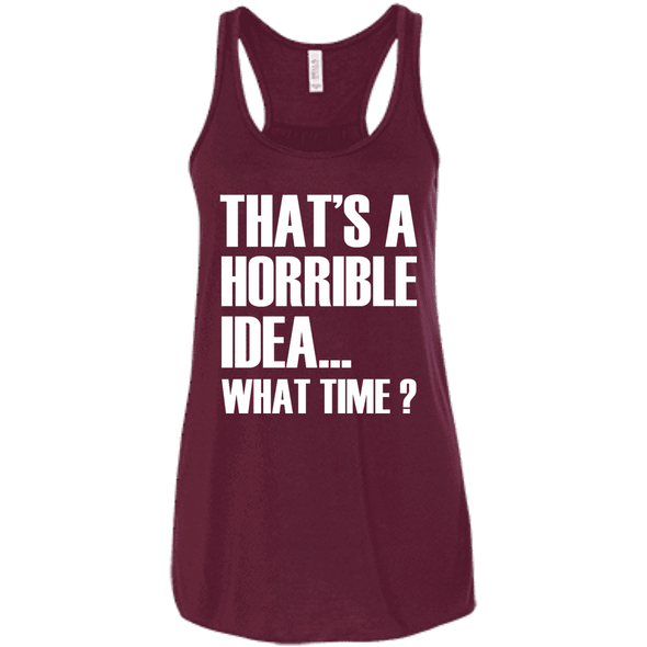What Time? Apparel CustomCat Bella + Canvas Flowy Racerback Tank Maroon X-Small