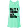 What Time? Apparel CustomCat Bella + Canvas Flowy Racerback Tank Mint X-Small