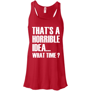What Time? Apparel CustomCat Bella + Canvas Flowy Racerback Tank Red X-Small
