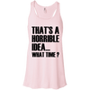 What Time? Apparel CustomCat Bella + Canvas Flowy Racerback Tank Soft Pink X-Small