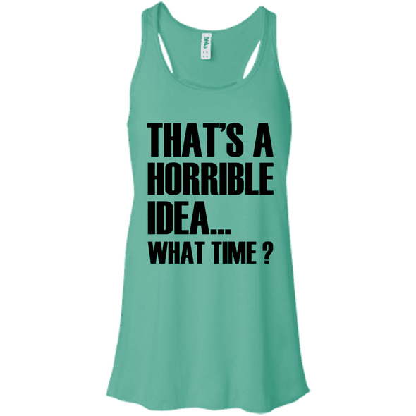 What Time? Apparel CustomCat Bella + Canvas Flowy Racerback Tank Teal X-Small