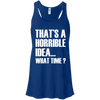What Time? Apparel CustomCat Bella + Canvas Flowy Racerback Tank True Royal X-Small