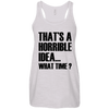 What Time? Apparel CustomCat Bella + Canvas Flowy Racerback Tank Vintage White X-Small