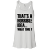 What Time? Apparel CustomCat Bella + Canvas Flowy Racerback Tank White X-Small