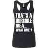 What Time? (Softstyle Tank) Apparel CustomCat Ladies Softstyle Racerback Tank Black Small