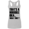 What Time? (Softstyle Tank) Apparel CustomCat Ladies Softstyle Racerback Tank Sport Grey Small