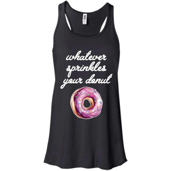 Whatever Sprinkles Your Donut T-Shirts CustomCat Black X-Small