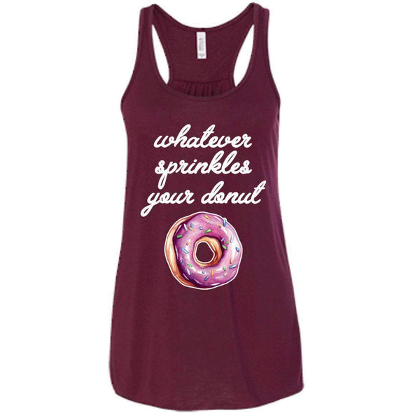 Whatever Sprinkles Your Donut T-Shirts CustomCat Maroon X-Small