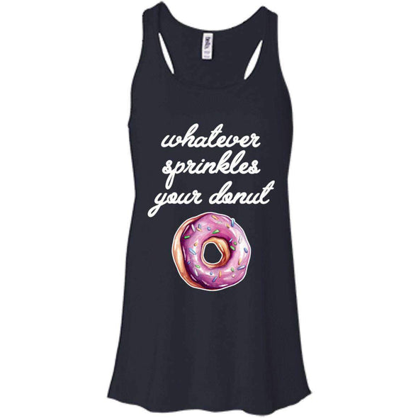 Whatever Sprinkles Your Donut T-Shirts CustomCat Midnight X-Small