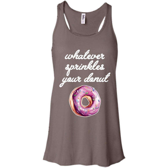 Whatever Sprinkles Your Donut T-Shirts CustomCat Pebble Brown X-Small