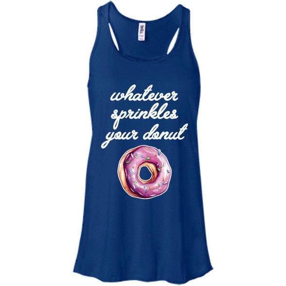 Whatever Sprinkles Your Donut T-Shirts CustomCat True Royal X-Small