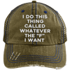 Whatever the F I want Hats CustomCat Brown/Navy One Size