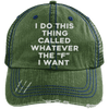 Whatever the F I want Hats CustomCat Dark Green/Navy One Size