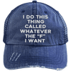 Whatever the F I want Hats CustomCat Navy/Navy One Size