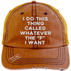 Whatever the F I want Hats CustomCat Orange/Navy One Size