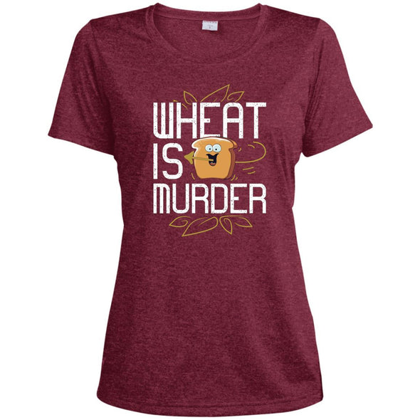 Wheat Is Murder Dri-fit Tee T-Shirts CustomCat Cardinal Heather X-Small