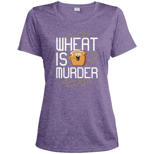 Wheat Is Murder Dri-fit Tee T-Shirts CustomCat Purple Heather X-Small