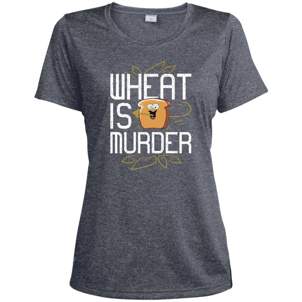 Wheat Is Murder Dri-fit Tee T-Shirts CustomCat True Navy Heather X-Small
