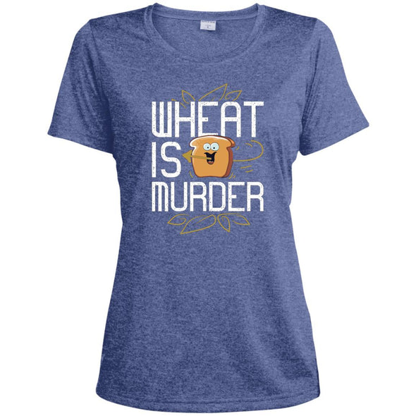 Wheat Is Murder Dri-fit Tee T-Shirts CustomCat True Royal Heather X-Small