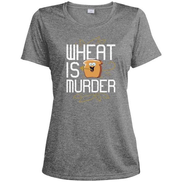 Wheat Is Murder Dri-fit Tee T-Shirts CustomCat Vintage Heather X-Small