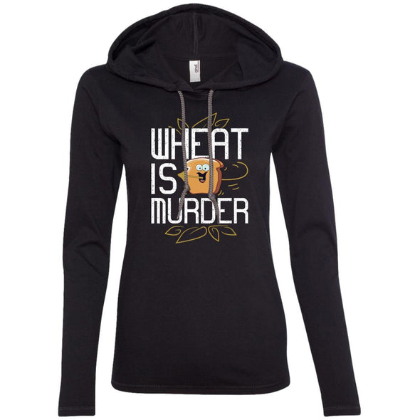 Wheat Is Murder Hoodie T-Shirts CustomCat Black/Dark Grey S