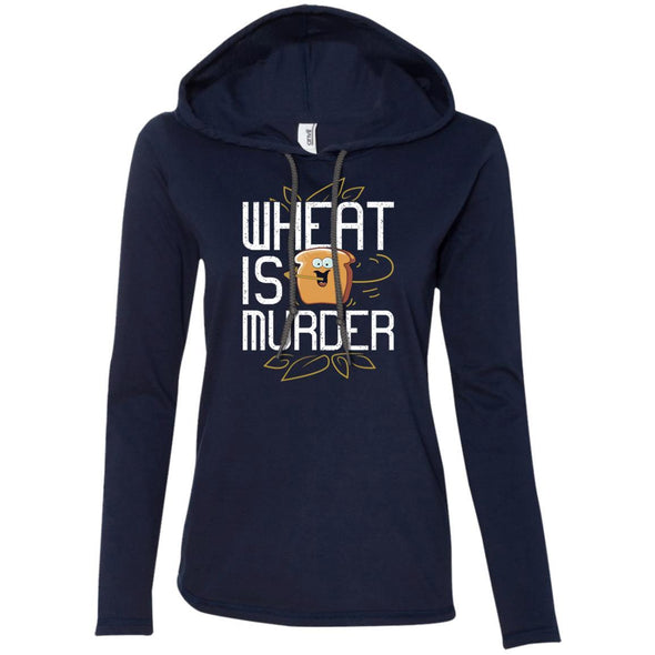 Wheat Is Murder Hoodie T-Shirts CustomCat Navy/Dark Grey S