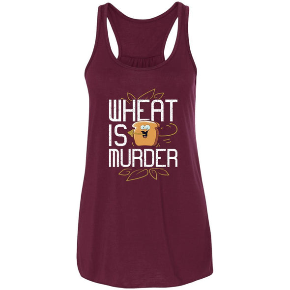 Wheat Is Murder Tank T-Shirts CustomCat Maroon X-Small