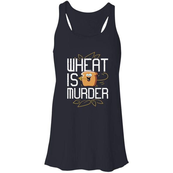Wheat Is Murder Tank T-Shirts CustomCat Midnight X-Small