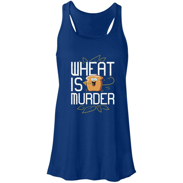 Wheat Is Murder Tank T-Shirts CustomCat True Royal X-Small
