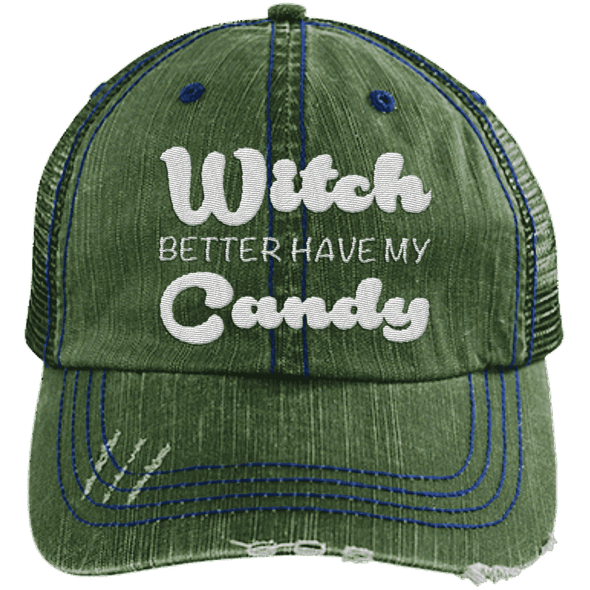 Witch Better Have my Candy Hats CustomCat Dark Green/Navy One Size