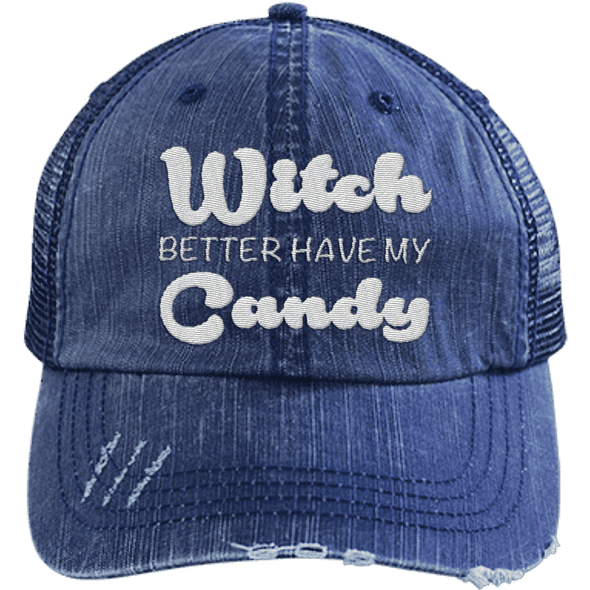 Witch Better Have my Candy Hats CustomCat Navy/Navy One Size