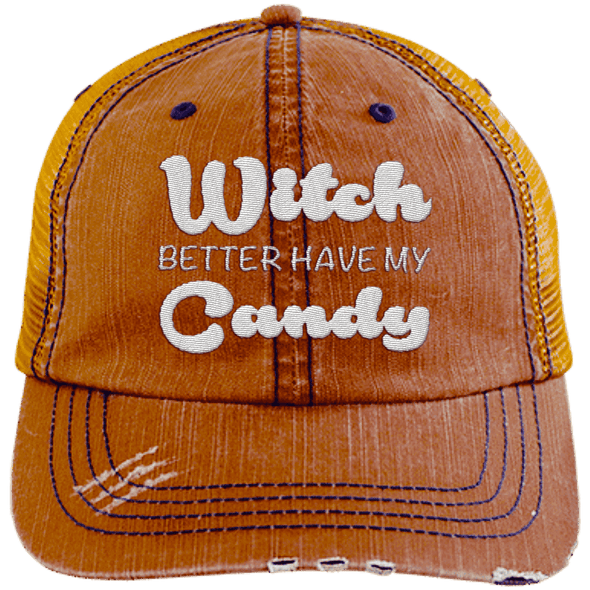 Witch Better Have my Candy Hats CustomCat Orange/Navy One Size