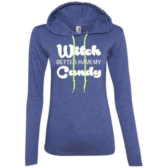 Witch Better Have my Candy T-Shirts CustomCat Heather Blue/Neon Yellow Small