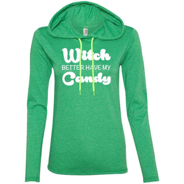 Witch Better Have my Candy T-Shirts CustomCat Heather Green/Neon Yellow Small